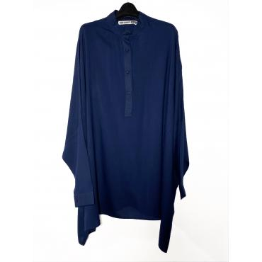 Oversize Closed Shirt In Navy