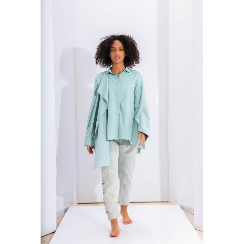 Extra Fabric Shirt In Mint